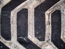 Gummireifen-Schritt-Detail Stockbild