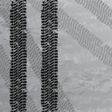 Gummireifen spürt Hintergrund auf Stockfotografie