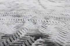 Gummireifen-Spuren Lizenzfreies Stockbild