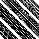 Gummireifenspuren Stockfotografie