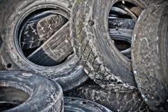 Gummireifenwiederverwertung Stockfoto
