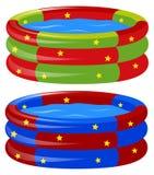 Gummiswimmingpool in zwei Farben Lizenzfreies Stockbild
