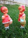 Gummiweinlesepuppenspielzeug stockbild
