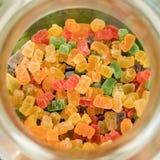 Gummy αντέξτε σε ένα βάζο από τη τοπ άποψη στοκ φωτογραφία