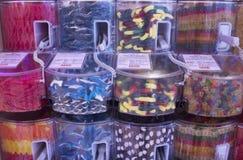 Gummy αρκούδες, σκουλήκια, καρχαρίες Στοκ Φωτογραφίες