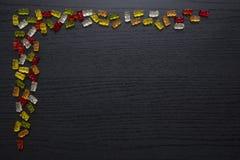 Gummy ευχετήρια κάρτα καραμελών στοκ φωτογραφία