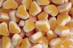 Gummy καραμέλες με μορφή μιας καρδιάς στοκ εικόνες