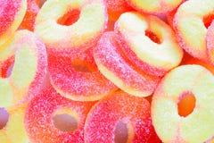 Gummy υπόβαθρο καραμελών - έννοια ευτυχίας Στοκ φωτογραφία με δικαίωμα ελεύθερης χρήσης