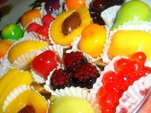 Gummy φρούτα και μούρα Στοκ φωτογραφία με δικαίωμα ελεύθερης χρήσης
