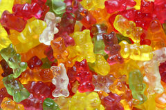 Gummy bear background. Close-up Stock Image