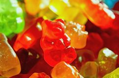 Gummy bear candy, Sale, background royalty free stock photography
