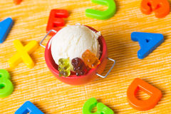 Gummy bear ice cream Royalty Free Stock Image