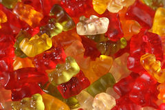 Gummy bears. Macro of multi-coloured gummy bears Stock Photography