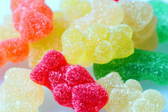 Gummy bears. Different colors of gummy bears Royalty Free Stock Photos