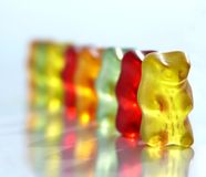 Gummy bears Stock Image