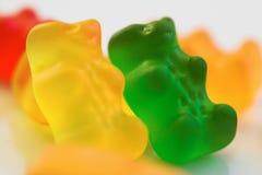 Gummy bears. Macro background gummy bears stock photos