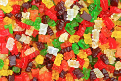 Gummy bears background Royalty Free Stock Photography