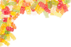 Gummy bears candies border Royalty Free Stock Photos