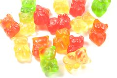 Gummy Bears In Different Colors Stock Images