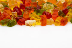 Gummy bears isolated Stock Image