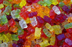 Gummy bears - RAW format. Close up of colorful gummy bears Stock Photos