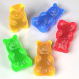 Gummy bears. Realistic 3d render of gummy bears Stock Images