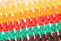 Gummy bears series background texture Royalty Free Stock Photo