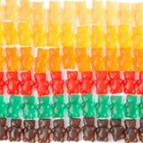 Gummy bears series background texture. Closeup stock photography