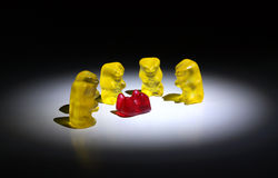 Gummy bears sweet funny concept Stock Image