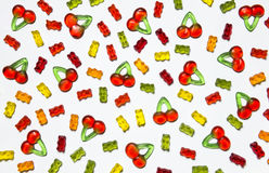 Gummy candy background Royalty Free Stock Photography