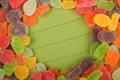 Gummy candy frame Royalty Free Stock Photo