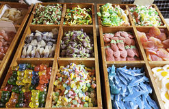Gummy candy market Royalty Free Stock Images