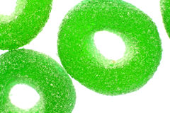 Gummy candy. Nice gummy candy close up on white background Royalty Free Stock Photos