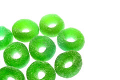 Gummy candy. Nice gummy candy close up on white background Royalty Free Stock Images