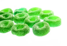 Gummy candy. Nice gummy candy close up on white background Stock Photos