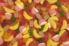 Gummy Candy. Pile of Gummy Candy, colorful Royalty Free Stock Photos