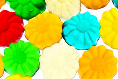 Gummy candy. Some sweet colorful gummy candy close up Stock Photos