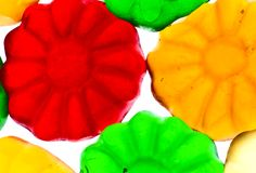 Gummy candy. Some sweet colorful gummy candy close up Stock Photography