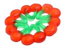 Gummy cherries. Background Royalty Free Stock Image