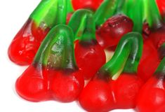 Gummy Cherry candies Stock Photo