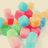 Gummy cubes, with a retro effect Stock Photography