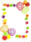 Gummy frame Royalty Free Stock Image