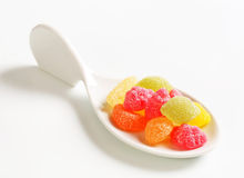 Gummy fruit candy Stock Photos