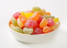 Gummy fruit candy Stock Image