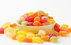 Gummy fruit candy Royalty Free Stock Images