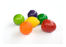 Gummy fruit sweets. Gum, candy(gummy fruit sweets Royalty Free Stock Photo