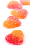 Gummy heart shaped Stock Photography