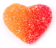 Gummy heart shaped Royalty Free Stock Image