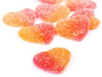 Gummy heart shaped Royalty Free Stock Image