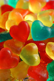 Gummy Hearts. Colorful heart-shaped gummy candies Stock Images